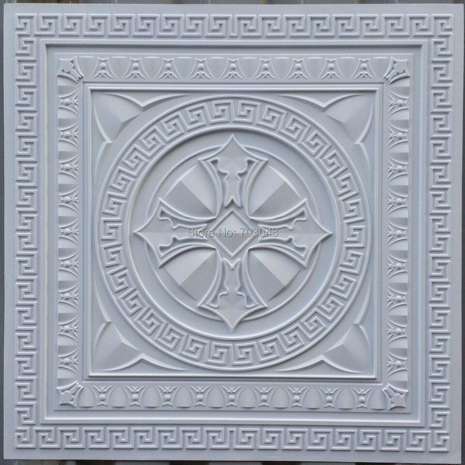 - PL01 Faux Tin Artistic Decorative Ceiling Tiles 3D Embossed