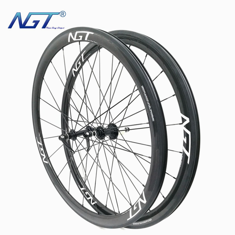 One Pair NGT Carbon Wheels 38mm*23mm Clincher Road Bike Wheels Hub R13 Black Maximum Smoothness Basalt Brake Customized Wheels