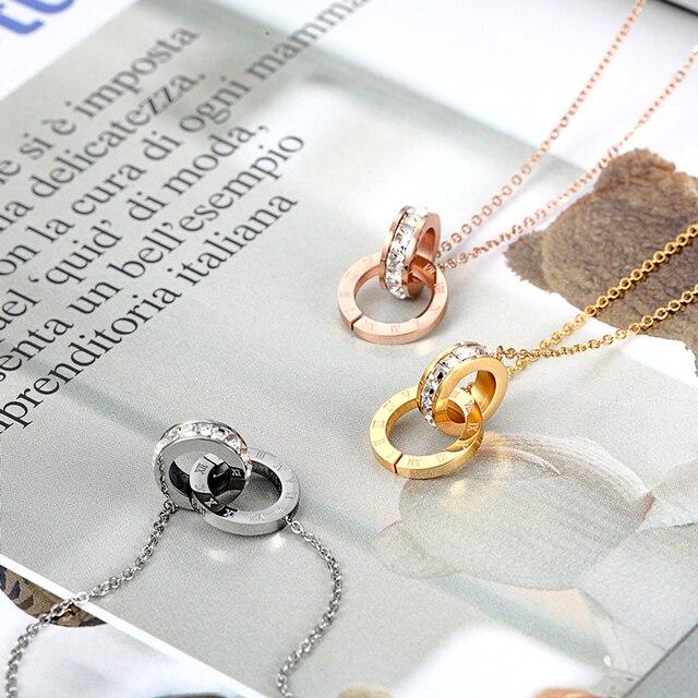 Фото ожерелье женское с двойной пряжкой колье кристаллами и римскими