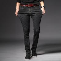 LEDINGSEN New Arrival Mens Skinny Black Jeans Men Super Stretch Slim Ripped Jeans Male Casual Denim