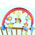 Lokyee Kids Toys Music Game Frame Baby Crib Hangings Infant Bed Rattle Toy Support Arch Ornament - Purple green and red