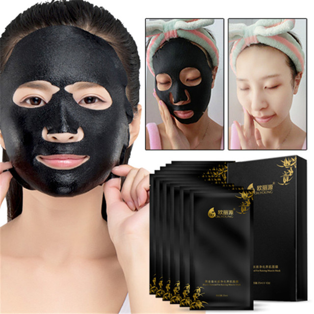 Charcoal Mask Blackhead Pore Strips Moisturizing Black Facial Face Mask Remove Blackheads Acne Dot Suction Black Purifying Pore