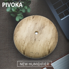 PIVOKA 400 мл USB Ультразвуковой увлажнитель эфирные масла диффузор древесины туман увлажнитель воздуха светодиодные лампы для дома Спальня