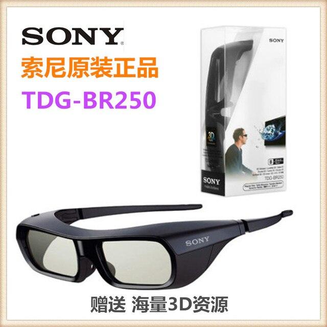 1 pcs genuine usb recarregável active shutter 3d glasses tdg-br250 b óculos  3d 0351130c97