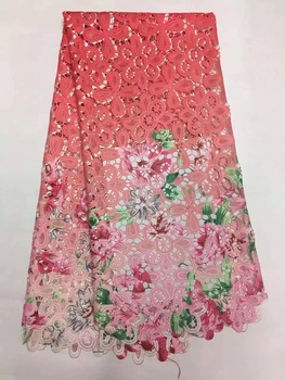 Latest African Laces 2019 High Quality Tulle Fabric Laces Nigerian Lace French Cord Lace Fabric For Women Dress  YF