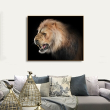 Lion Natural Realist Animals Canvas Prints Painting Calligraphy Home Decoration Wall Art Pictures For Living Room Bedroom