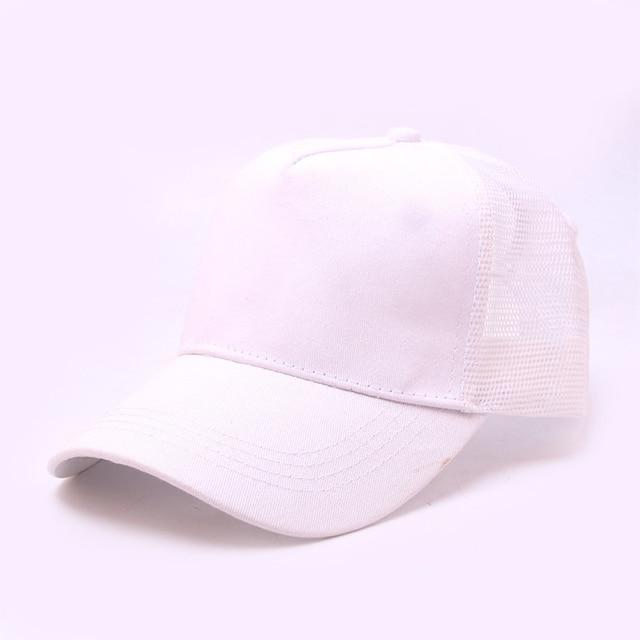 Ponytail Baseball Cap Women Messy Bun Snapback Summer Mesh Hats Casual Sport Solid Color Walking Curved Sun Hat Q40