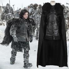 Game of Thrones Cosplay Costume Jon Snow Knight song ice and fire daenerys targaryen Purim costume full set