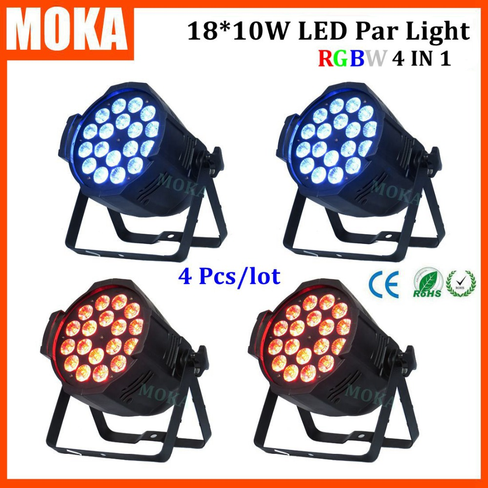 4pcs/lot high quality led par light18*10w color changing light effect disco light for dj party disco stage show