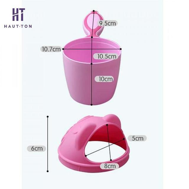 1pcs Cartoon Baby Bath Shampoo Cup Children Bathing Caps Baby Shower Spoons Child Washing Hair Cup Bathroom Accessories G   4
