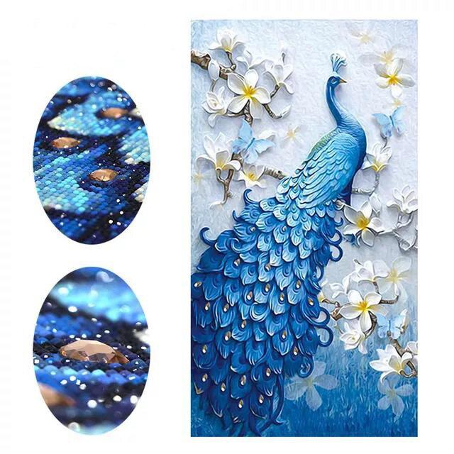 Animal Peacock version porch Diamond Painting Cross Stitch full  painting stitch diamond mosaic decoration free shipping sale
