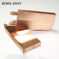 40*80*10mm Computer mirror surface Pure Copper plate block Heat exchanger water cooling cooler radiator For PC IC chip Heatsink
