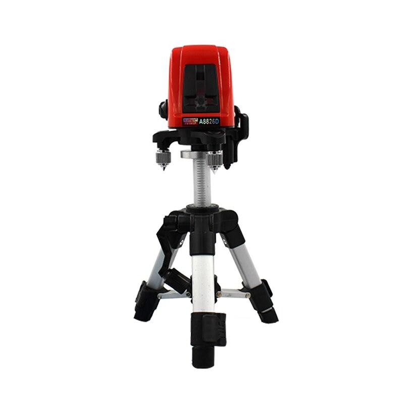 ACUANGLE A8826D лазерный уровень перекрестных 635nm красный 2 строки + AT280 штатив Automatic 360 градусов Самовыравнивающийся Крест Лазерные уровни