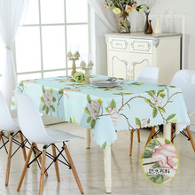 Linen plaid waterproof table cloth, cotton linen tablecloth anti-scalding oil-proof, coffee cloth napkin