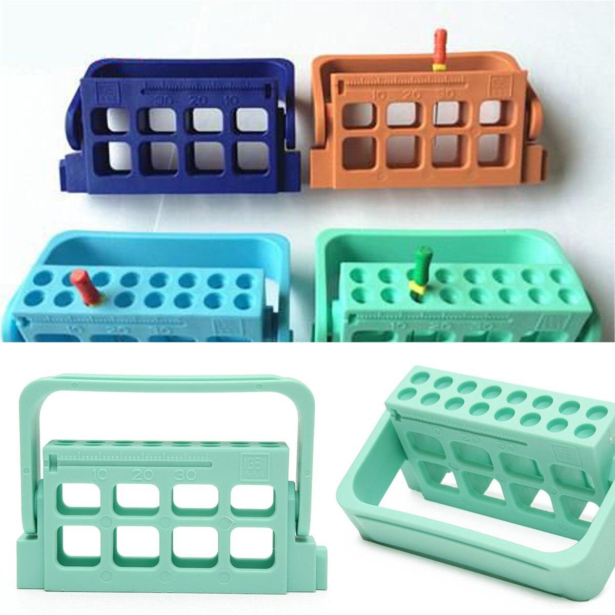 16 отверстий Держатель зубных боров Алмазный полировальный блок подставка автоклавная дезинфекционная коробка высокоскоростной Бур након...
