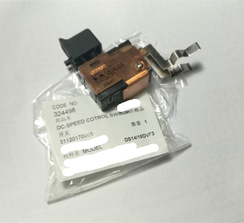 18V 14.4V DC-Speed Control Switch for HITACHI 324498 DS18DVF3 DS18DFL DS14DVF3 DS14DFC DS14DLPC набор bosch ножовка gsa 18v 32 0 601 6a8 102 адаптер gaa 18v 24