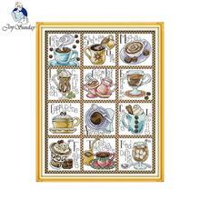 Cross-Stitch-Kit Fabric Joy Sunday Embroidery Canvas Counted 11CT Needlework Print 14CT