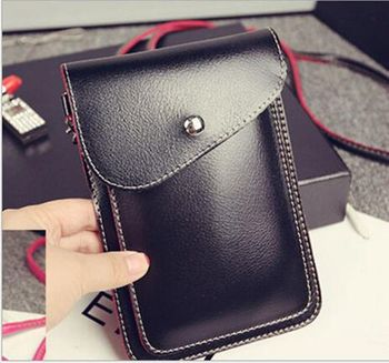 PU Leather Phone Bag Shoulder Pocket Wallet Pouch Case Neck Strap For Xiaomi Mi 5X 5c 6 Max 2 4s 5 5s Plus Max Mix Note 2