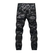 2020 męskie Jogger jesienne ołówkowe spodnie haremki męskie spodnie wojskowe moro luźne wygodne spodnie cargo Camo Joggers tanie tanio HANQIU Ołówek spodnie Mieszkanie Poliester COTTON NONE REGULAR mens joggers Na co dzień Midweight Suknem Pełnej długości