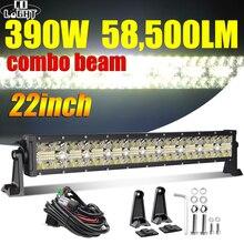 CO LIGHT 22 дюйма 32 дюйма 42 дюйма 4x4 Светодиодная панель 3 ряда точечный прожектор светильник ильник 12 В 24 в 390 Вт 585 Вт 780 Вт Рабочее освещение для трактора Lada ATV