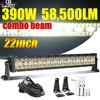 "CO LIGHT 22"" 32"" 42"" Offroad 4x4 Led Bar 3 Rows Spot Flood Led Light Bar 12V 24V 390W 585W 780W Work Lights for Tractor Lada ATV"