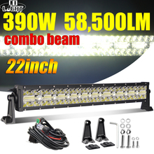 "CO LIGHT 22"" 32"" 42"" Offroad 4x4 Led Bar 3 Rows Spot Flood Led Light Bar 12V 24V 390W 585W 780W Work Lights for Tractor Lada ATV"