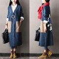 2016 женщин новых осенью и зимой плюс размер с бархатные повседневные верхняя одежда длинный абзац кардиган