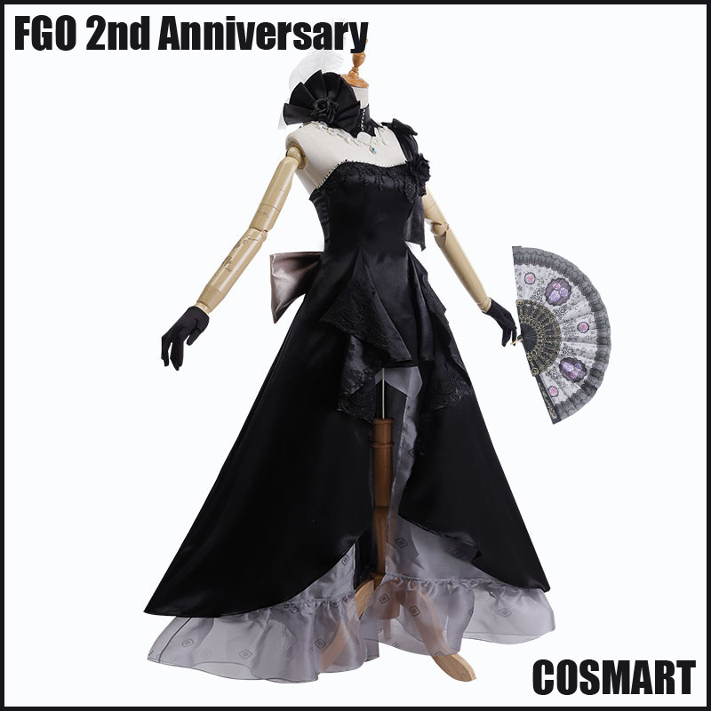 [STOCK]+Fan Game Fate Grand Order FGO 2nd Anniversary Mary Uniform Black Dress Halloween Cosplay costume NEW 2018 free ship