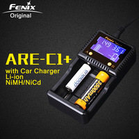 Original Fenix ARE C1+ Intelligent Battery Charger Support AC DC Charging 2 Slots Smart Charger for Li ion Ni MH Ni Cd 18650 AAA