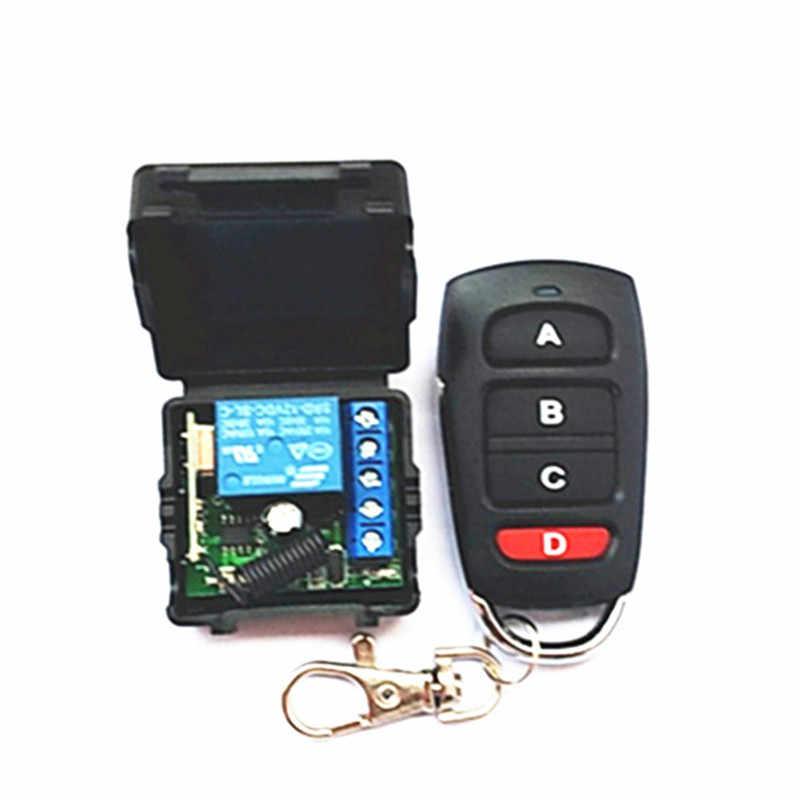 Módulo del interruptor del control remoto del receptor del relé inalámbrico DC 12V 10A 1 CH para el control remoto RF 433 MHz.; garaje, iluminación, eléctrico c