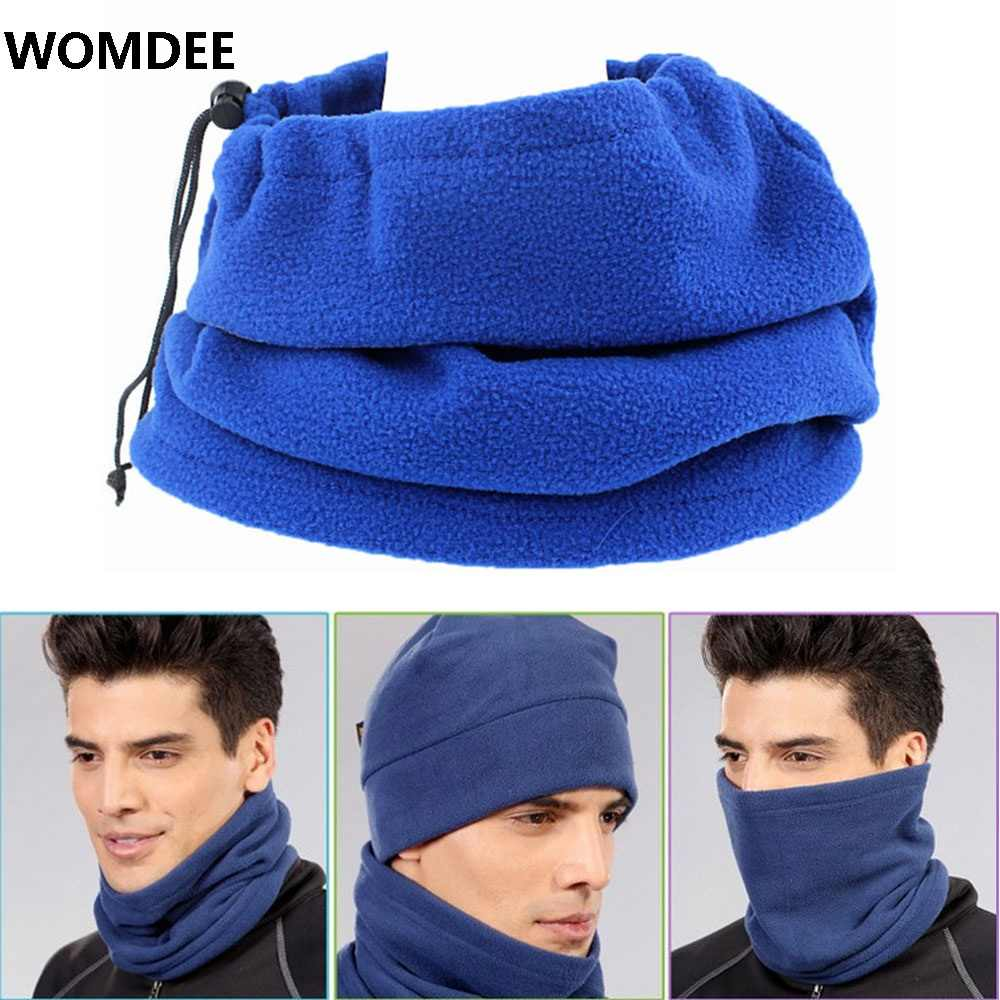 Cold Weather Polar Fleece Wool Thermal Neck Gaiter Tube Warmer Half Face  Mask Winter Snowboard Scarf 02739d280cd