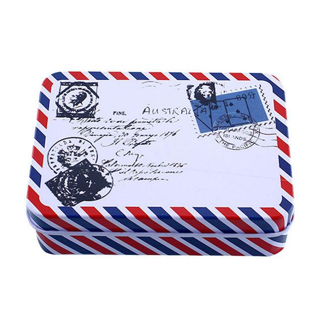 9*6.5*2.8 cm boîte de rangement décoration Collection affichage bonbons pilule Chutty Mini stockage métal Vintage bande dessinée boîte en fer blanc