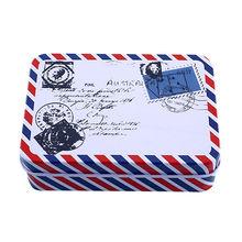 Caja de almacenamiento de 9*6,5*2,8 cm caja de almacenamiento de decoración de colección pastilla caramelo golosina Chutty Mini caja de lata de Metal Vintage de dibujos animados