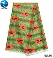 LIULANZHI african imitated silk fabric satin silk fabric textile latest printed fabric china products 5yards/piece NLL20 43