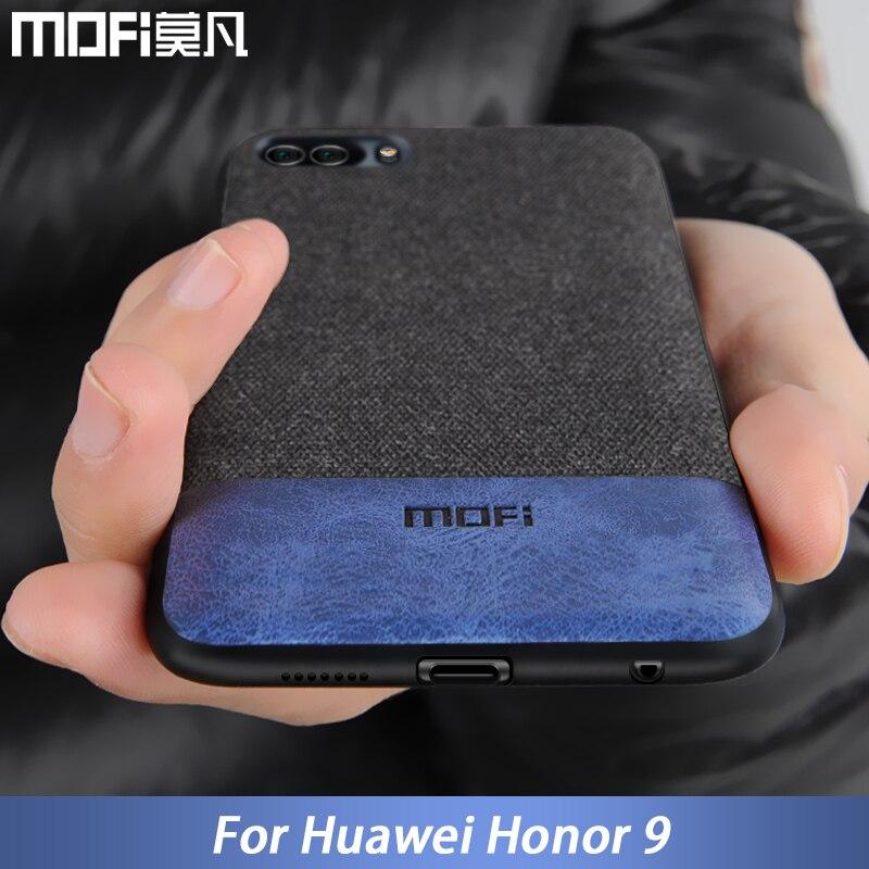 Para Huawei caso capa honor honor 9 9 tampa borda de silicone à prova de choque homens de negócios tecido coque caso MOFi original para honor 9