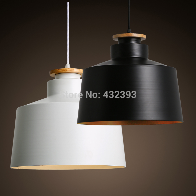 modern brief personality single head black and white pendant light