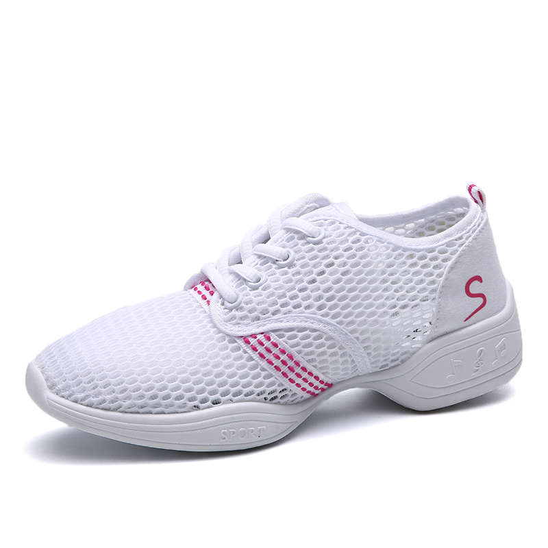 New Soft Outsole Breath Dance Shoes Women Sports Feature Dance Sneakers Jazz Hip Hop Shoes Woman Dancing Shoe Zapatos