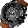 Ourdoor Gran Dial Reloj de Los Hombres de Lujo Relojes Del Cuarzo Del Deporte Militar Ocasional Gran Macho Correa de Cuero Reloj Montre Homme Regalos