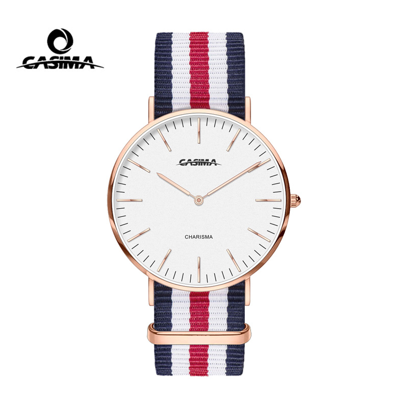 CASIMA Watch Men Women 2017 Luxury Brand Couple Lover's D Style W Nylon Leather Strap Quartz Wrist Watch Clock Relogio Masculino