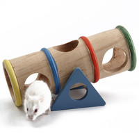 New Natural Wooden Colorful Seesaw Cage House Hide Play Toy For Hamster Rat Mouse 2017 High