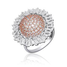 Newness Delicate Shape Luxury Full Micro AAA Cubic Zirconia Copper Dress Party Wedding Bridal Fashion Ring For Women luxury aaa cubic zirconia micro pave setting big multi layered full finger ring for women r7568