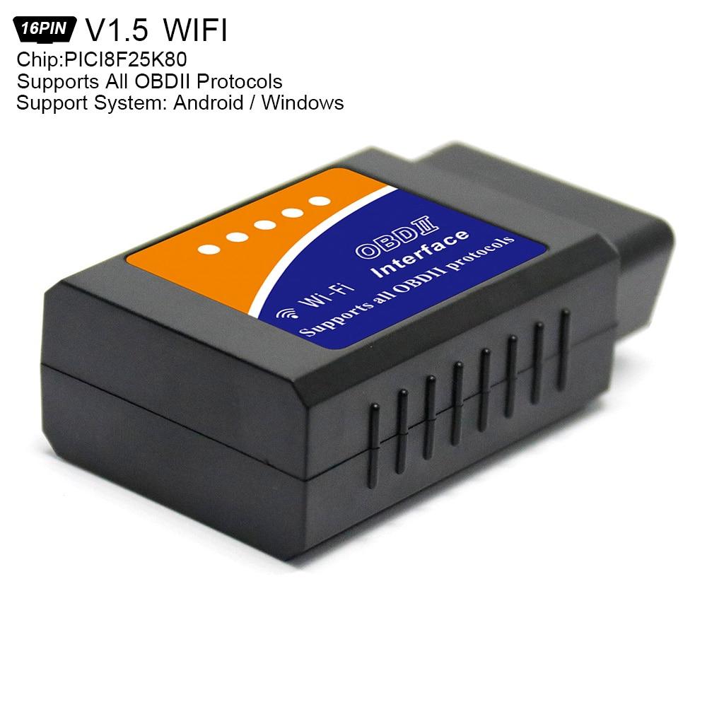 ELM327 V1.5 PICI8F25K80 Super Mini WiFi Scanner Wireless Auto V03HW-1 Interface OBDII OBD2 Code Readers Car Diagnostic Tool