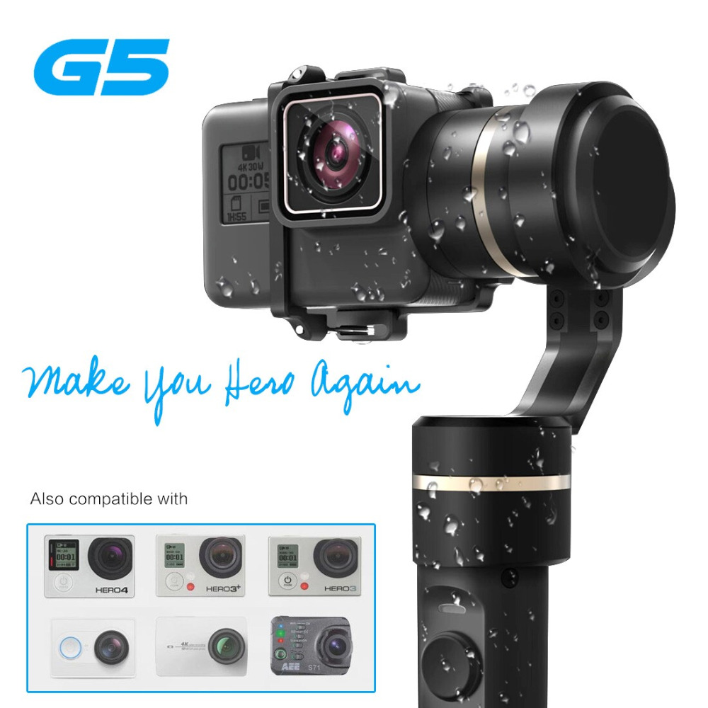 Ny version Feiyu G5 Handhållen Gimbal för HERO5 5 4 Xiaomi yi 4k SJ AEE Action Cams av varierar väga Splashproof Humanized