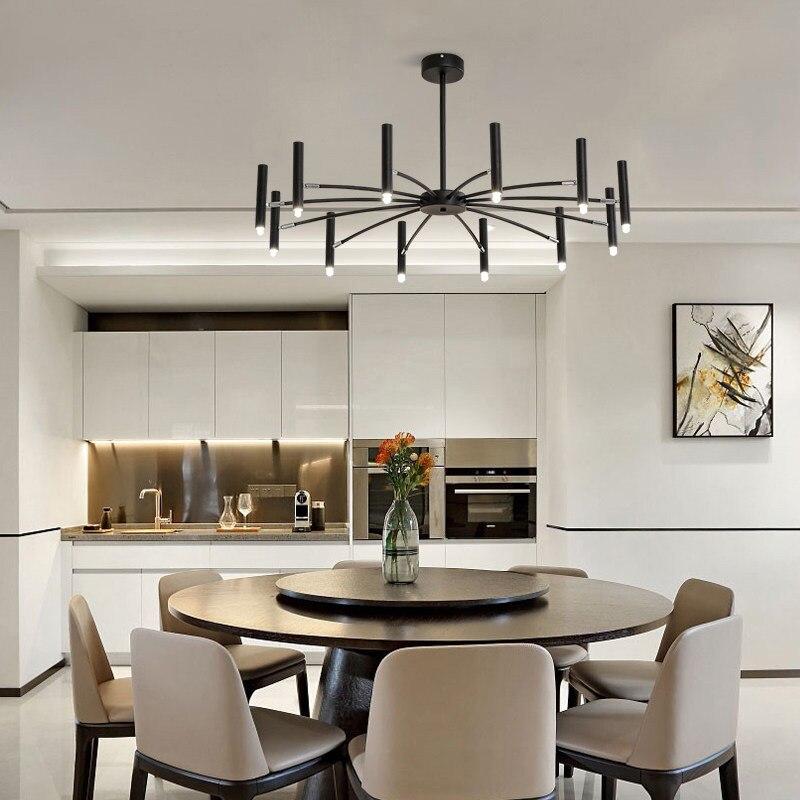 Hall d'accueil postmoderne lustre créatif lumière LED luminaire de chambre brève Designer chambre 12/24 lampe G9 Droplight