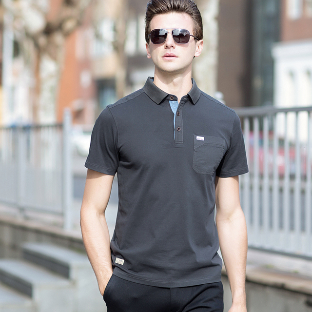 1a907c2bdaba4 New Arrival Men Polo Shirt Men Business & Smart Casual Solid Male Polo Shirt  Short Sleeve