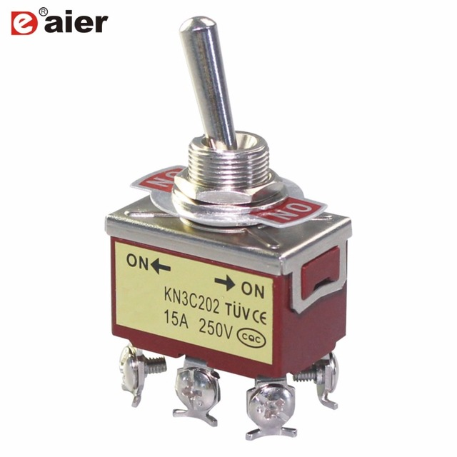 US $4.2 |2Pcs 10A 250VAC 15A Amps 125VAC Toggle Switch CE TUV ON ON  Prong Toggle Switch Wiring Diagram A Vac on