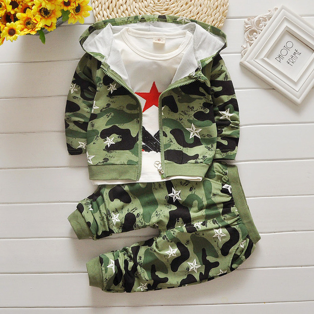 8274b98634612 2016 new Children boys Children clothes long sleeve Hoodies +pants suit  baby camouflage casual Sweatshirts