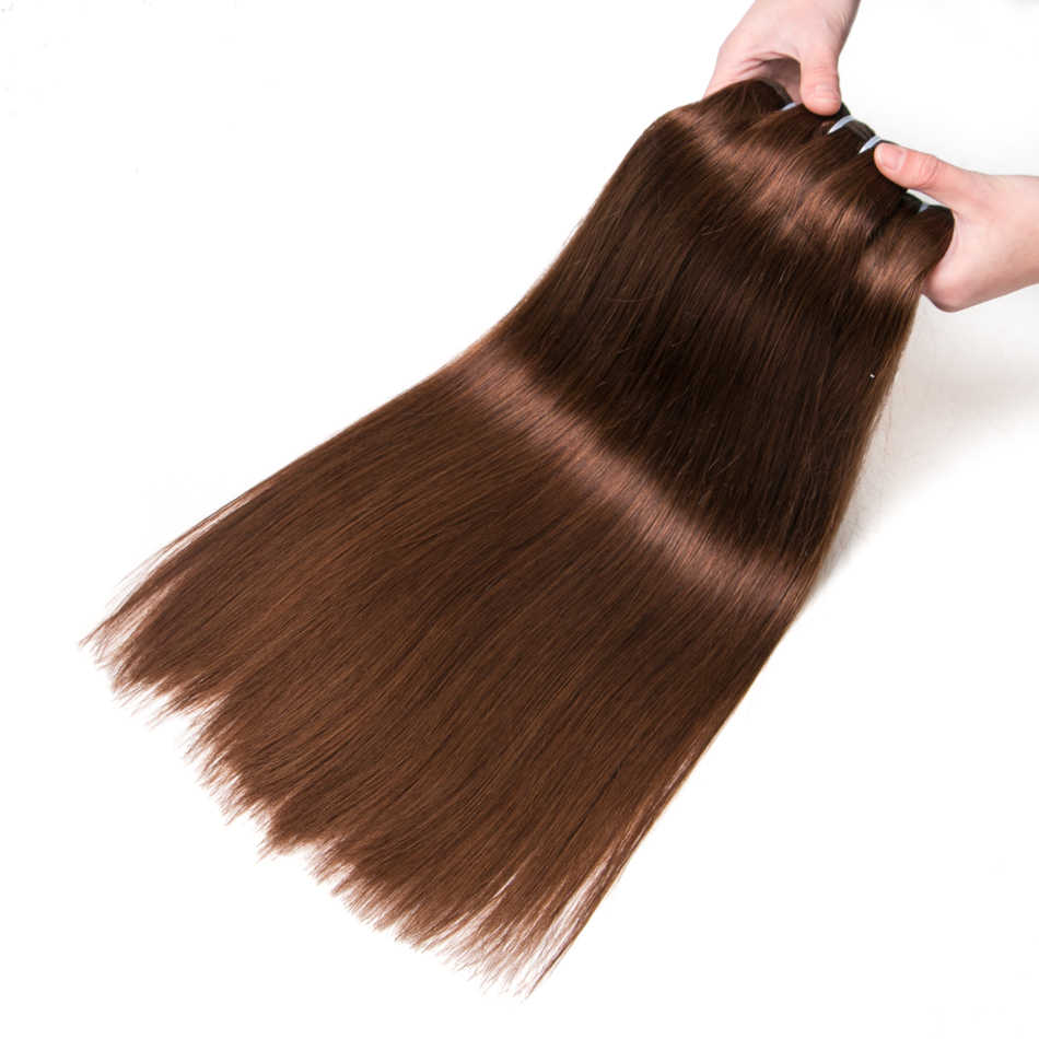 Ali-Beauty Straight Human Hair Weft Bundles Remy Natural Human Hair Extension 100g Can Curly