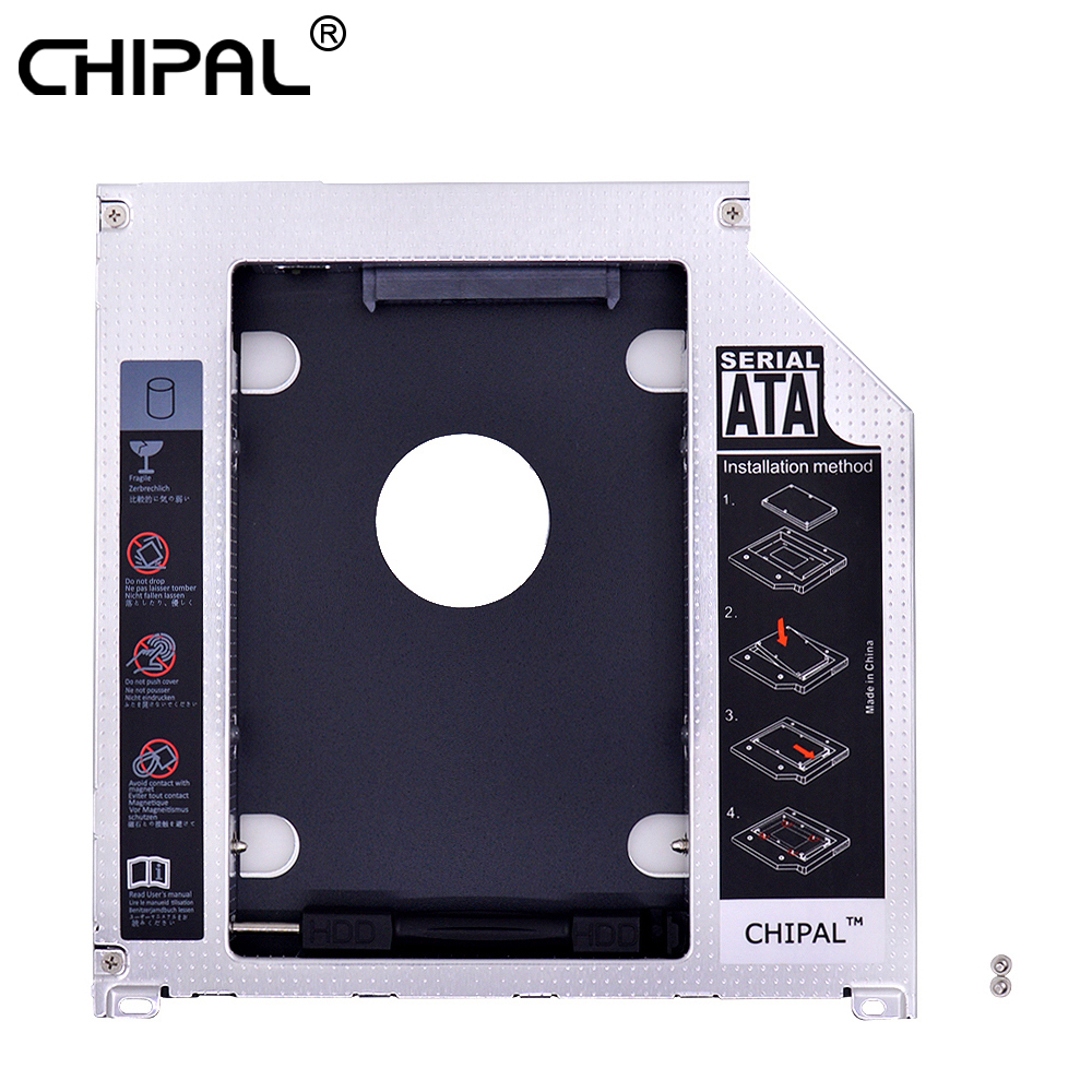 "Chipal 10 Stücke Aluminium Sata 3,0 2nd Hdd Caddy 9,5mm Ssd Hdd Fall Gehäuse Für Macbook Pro Air 13 ""15"" 17 ""superdrive Optibay"