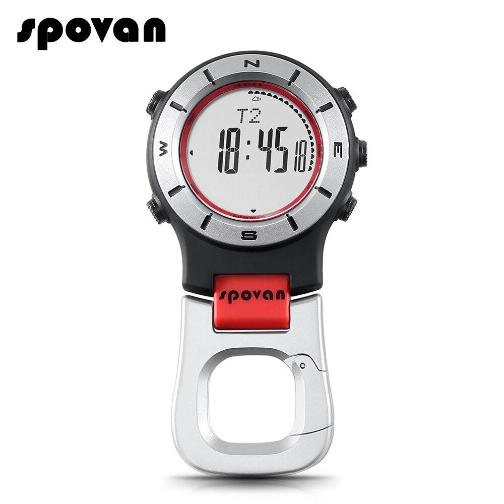 Montre intelligente SPOVAN altimètre baromètre boussole montre de poche hommes LED montres de sport pêche randonnée escalade montres de poche